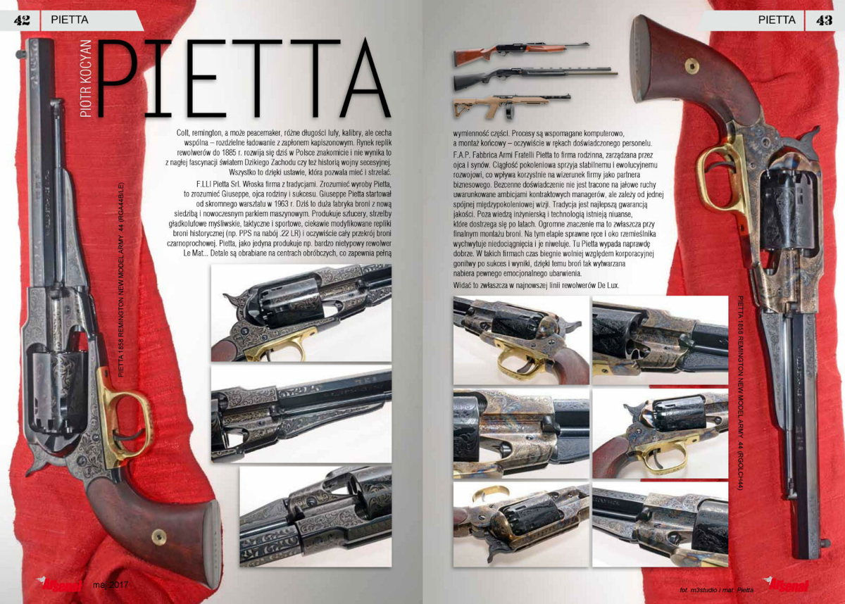 Rewolwer Pietta 1858 Remington New Model Army kal. 44 (RGOLCH44)