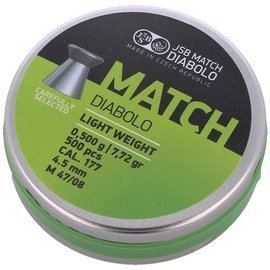 Śrut JSB Match Diabolo Light Weight 4.52mm 500szt (000010-500 (0,500g))