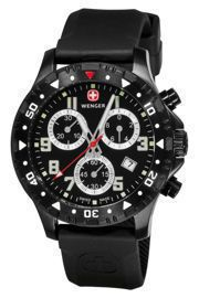 Zegarek Wenger Off Road Chrono 79359W, PVD, Black Dial, Stainless Steel Bracelet