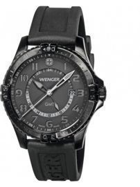 Zegarek Wenger Swiss Military - Squadron GMT 77074, ( black/grey dial).