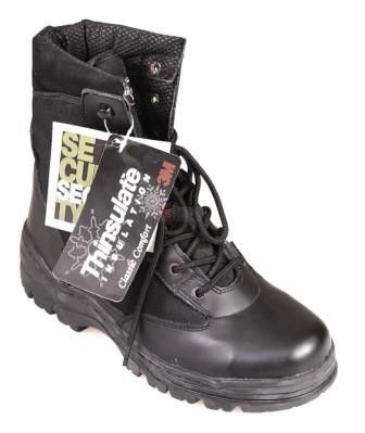 Buty Mil-Tec Security High Thinsulate Leather/Polyamid 800D black (17872)