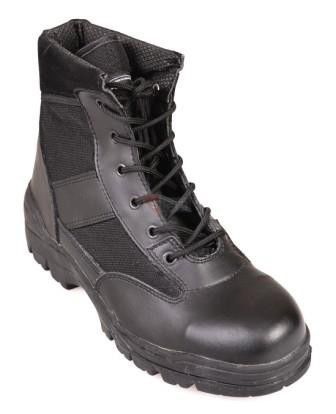 Buty Mil-Tec Security Mid Thinsulate Leather/Polyamid 800D black (17871)
