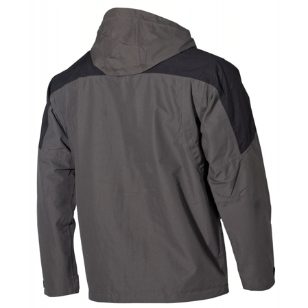 Kurtka MFH High Mountain Rain Jacket 65% Polyester 35% Cotton Black/Olive (08901H)