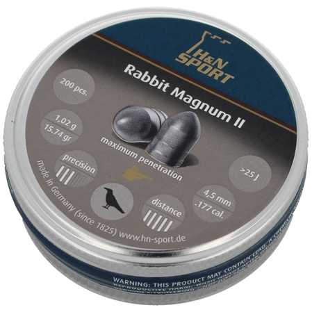 Śrut H&N Rabbit Magnum II 4.5mm, 200szt (92254500003)