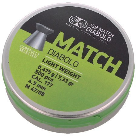 Śrut JSB Green Match Light Weight 4.51mm 0.475g (000006-500)